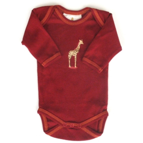 Speesees:  Organic Giraffe Bodysuit