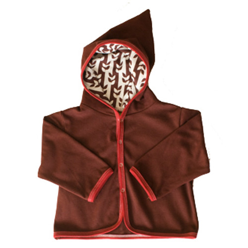 Kiwi:  Brown Vine Hooded Jacket