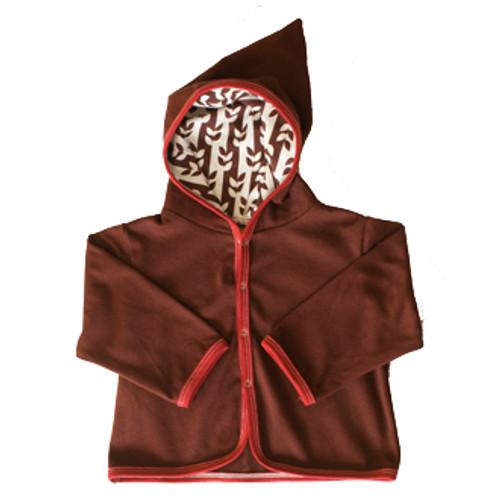 Kiwi:  Brown Vine Hooded Jacket