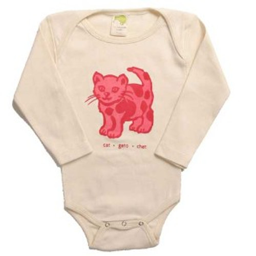 Kiwi:  Worldly Animals Cat Tee/Bodysuit