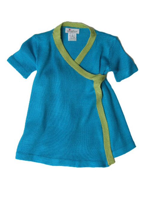 Picaflor:  Knit Kimono Dress in Turquoise/Mint