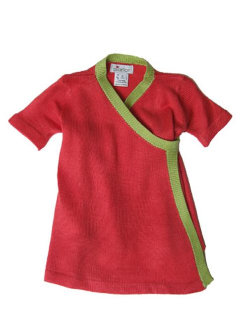 Picaflor:  Knit Kimono Dress in Watermelon/Mint