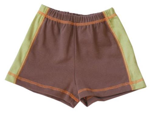 Cloud Mine: Retro Cars Brown & Green Shorts