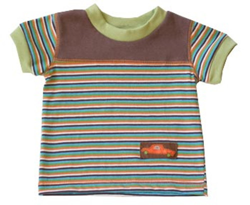 Cloud Mine: Retro Cars Stripe Tee