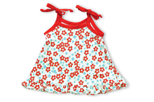 Kumquat - Red Blossoms Swing Top