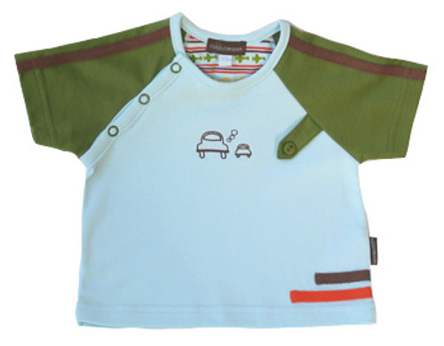Rabbit Moon:  Voyage Baseball Shirt with Cars