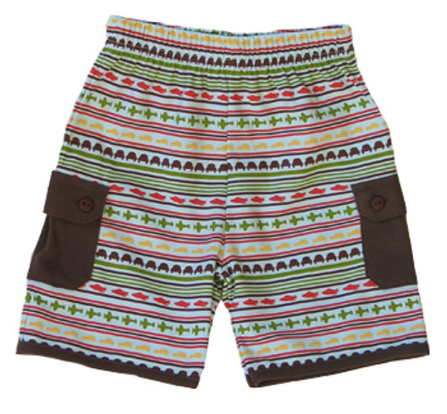 Rabbit Moon:  Voyage Stripe Shorts