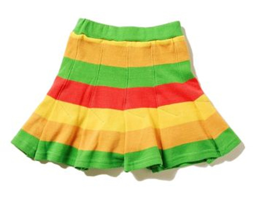 Happy Green Bee:  Rainbow Knit Skort