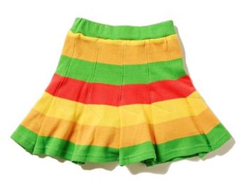Happy Green Bee:  Rainbow Knit Skort