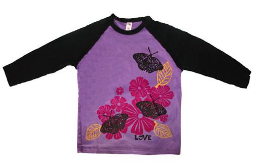 WugBug:  Butterflies Organic LS Tee