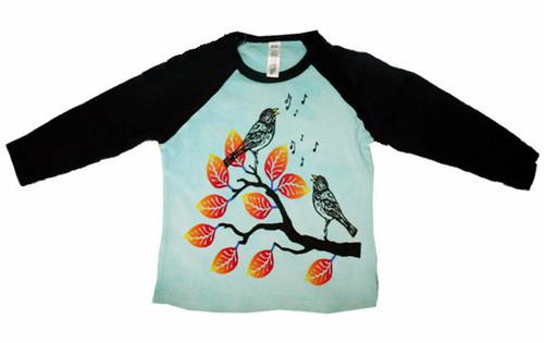 WugBug:  Aqua Birds Organic LS Tee