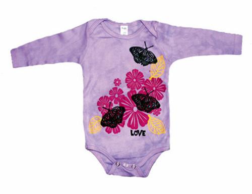 WugBug:  Lavender Butterflies Organic Bodysuit