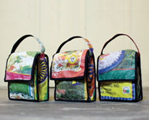 Upcycled Rice Bags:  Lunch Bag