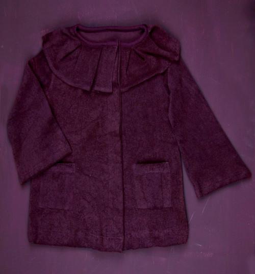Kate Quinn Organics:  Pleated Ruffle Jacket in Grape
