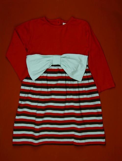 Kate Quinn Organics:  LS Bow Dress in Amber