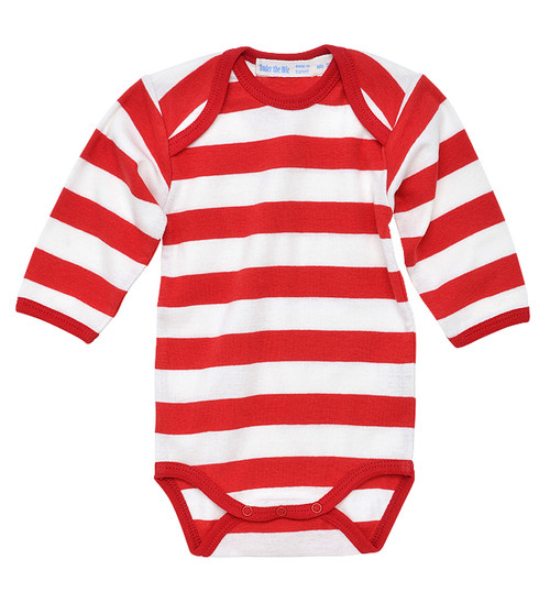 Under the Nile:  Organic Rugby Red Bodysuit