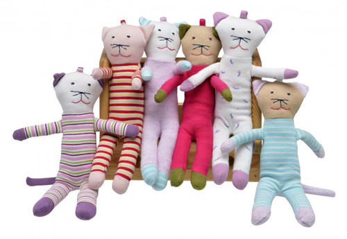 Scrappy Cats:  Lilac Stripes, Red Stripes, Pink Terry, Hot Pink, Soft Flowers, Blue Stripes