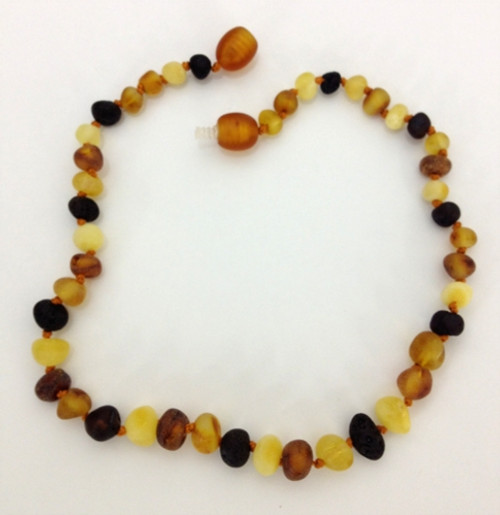Healing Hazel:  100% Baltic Raw Amber, in Multi-Color
