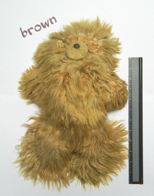 Suri Alpaca Brown Teddy Bear