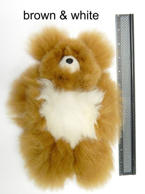 "Brown & White 9"" Alpaca Teddy Bear"