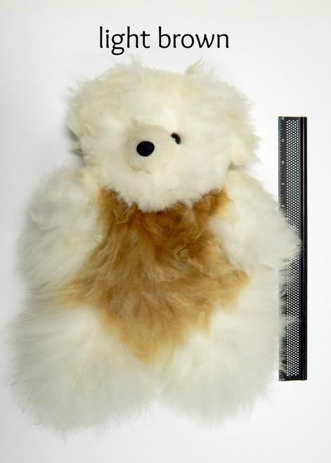 "Light Brown 12"" Alpaca Teddy Bear"