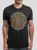 Bloom - Multicolor on Heather Black Triblend Mens T Shirt