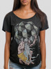 Weight of the World - Multicolor on Heather Black Triblend Womens Dolman T Shirt