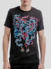 Bonfire - Multicolor on Heather Black Triblend Mens T Shirt