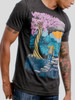Unknown Journey - Multicolor on Heather Black Triblend Mens T Shirt