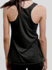 Creation - Multicolor on Heather Black Triblend Womens Racerback Tank Top