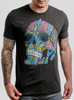 Cranium - Multicolor on Heather Black Triblend Mens T Shirt