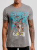 Tree Man - Multicolor on Heather Grey Triblend Mens T Shirt