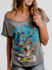 Tree Man - Multicolor on Heather Grey Triblend Womens Dolman T Shirt
