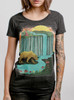 Bear Country - Multicolor on Heather Black Triblend Womens T-Shirt