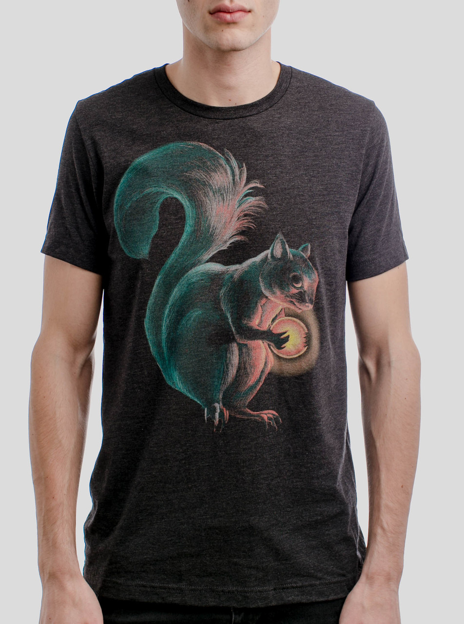 2bc6fda71 Squirrel - Multicolor on Heather Black Triblend Mens T Shirt - Curbside  Clothing