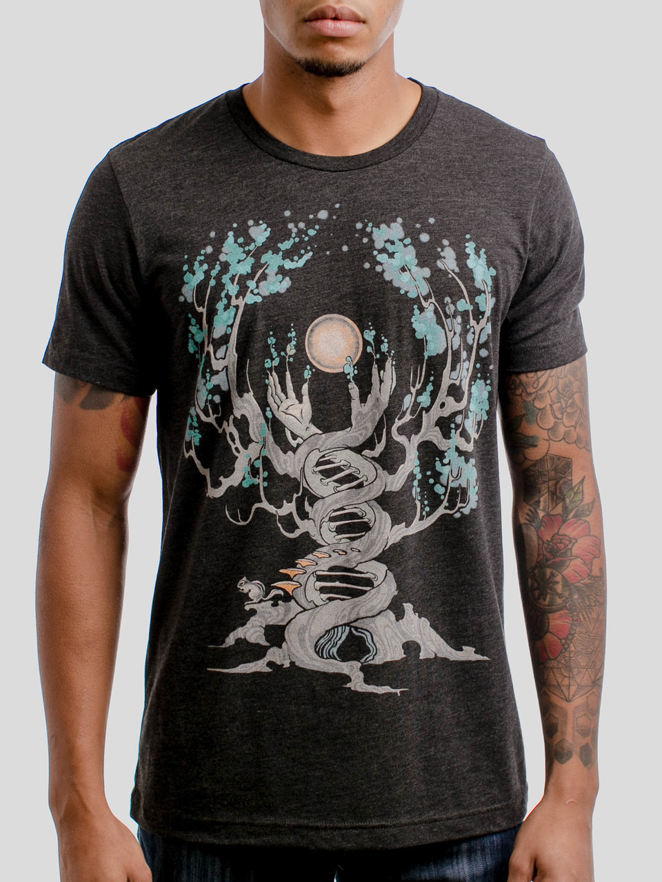 c59cf5e1a Emergence - Multicolor on Heather Black Triblend Mens T Shirt - Curbside  Clothing