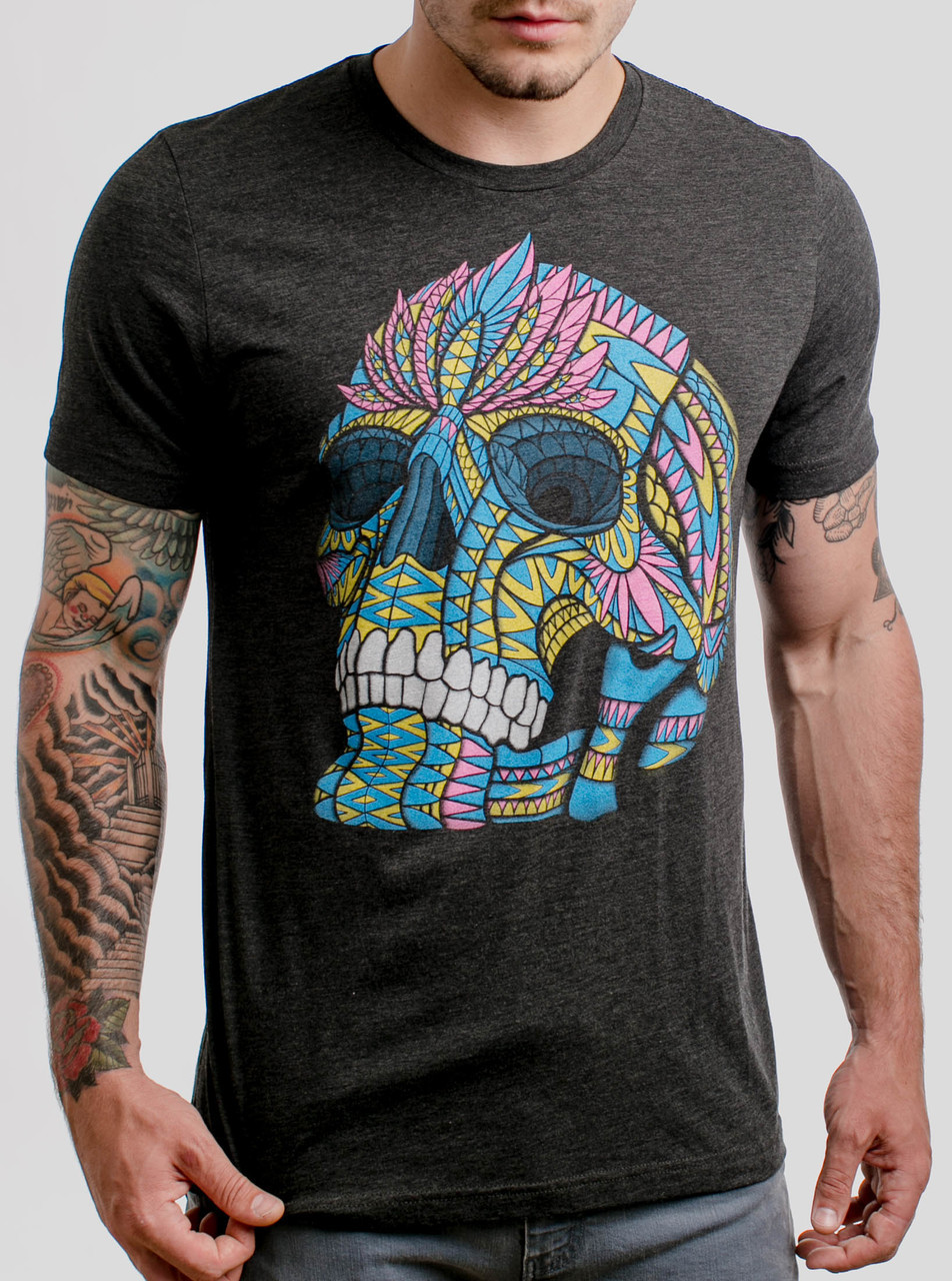 ffa6e2f4b Cranium - Multicolor on Heather Black Triblend Mens T Shirt - Curbside  Clothing