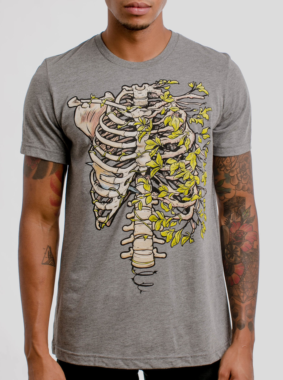 d28dca76467b3 Ribs - Multicolor on Heather Grey Triblend Mens T Shirt - Curbside Clothing
