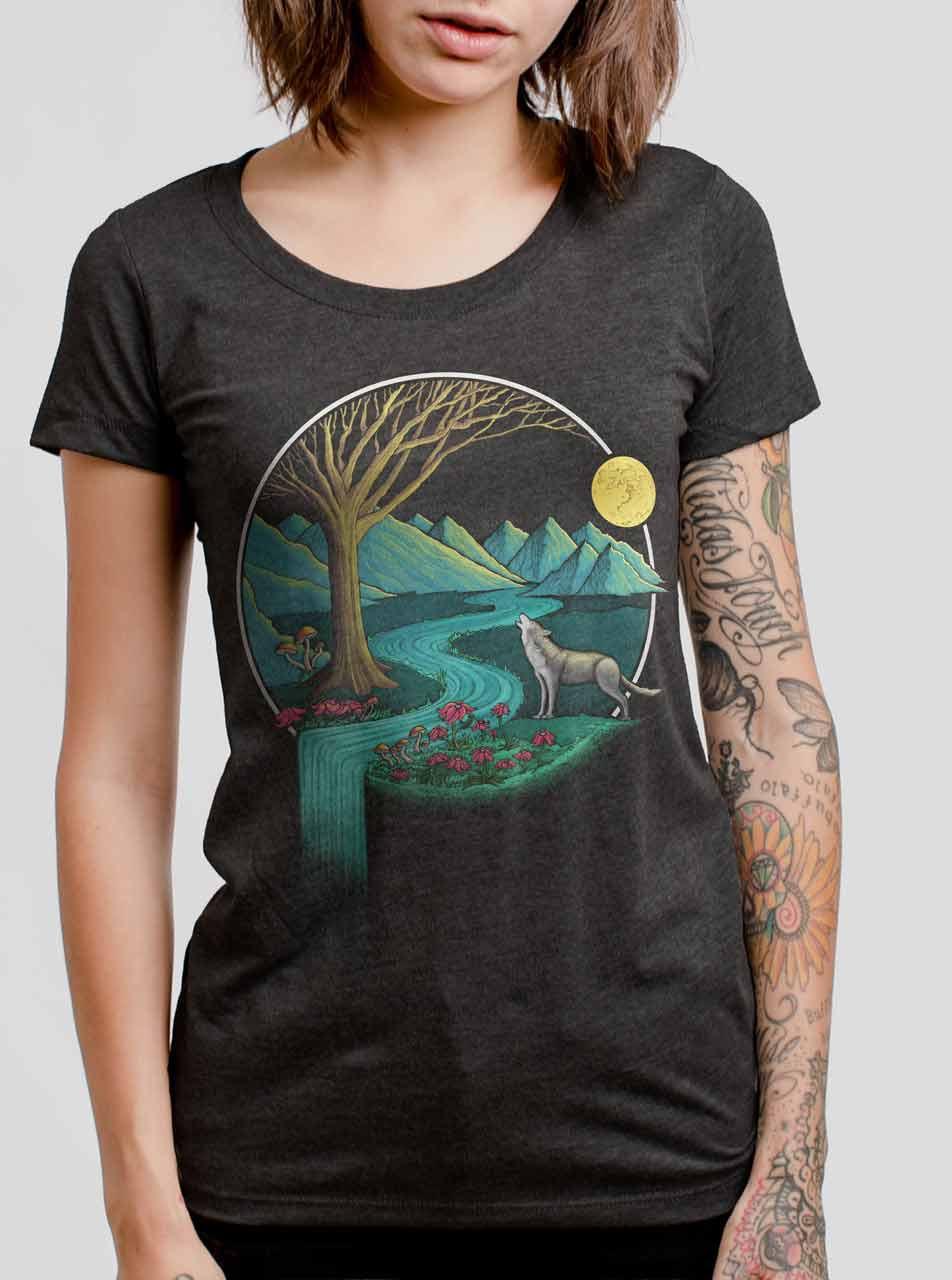 9abdb1ed Spirit Animal - Multicolor on Heather Black Triblend Womens T-Shirt -  Curbside Clothing