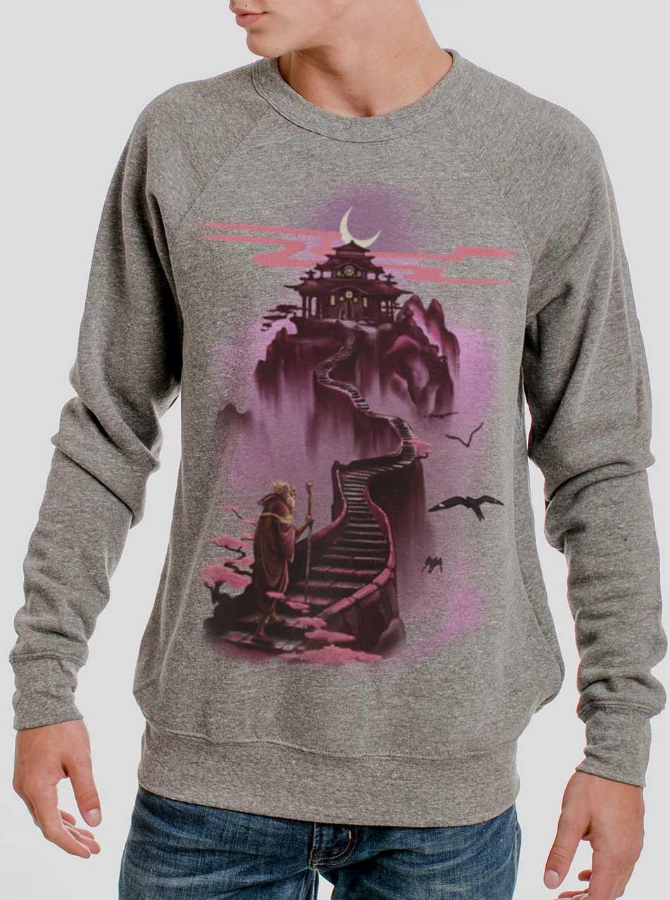 a78b6883 Ascending - Multicolor on Heather Grey Triblend Men's Sweatshirt ...