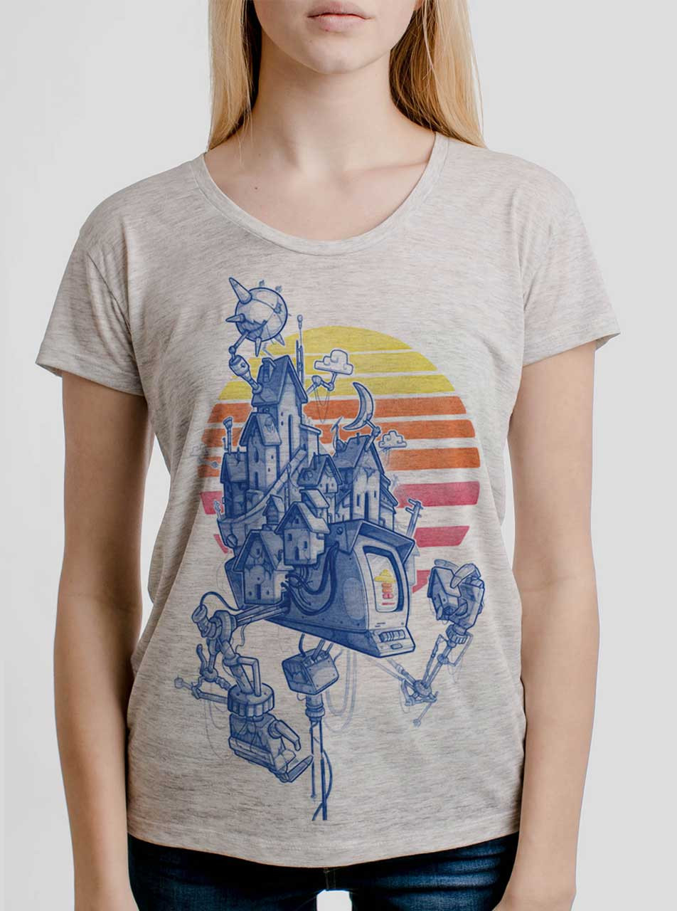 43a188a13 Home - Multicolor on Heather Oatmeal Womens Relaxed Fit T Shirt - Curbside  Clothing