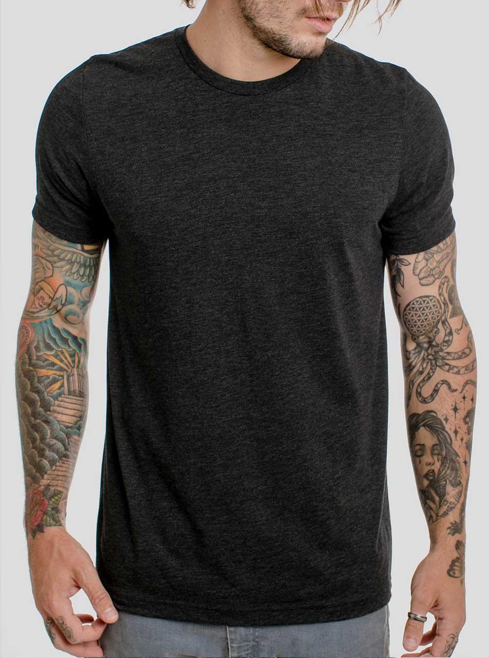 heathered black t shirt mens tshirts free shipping