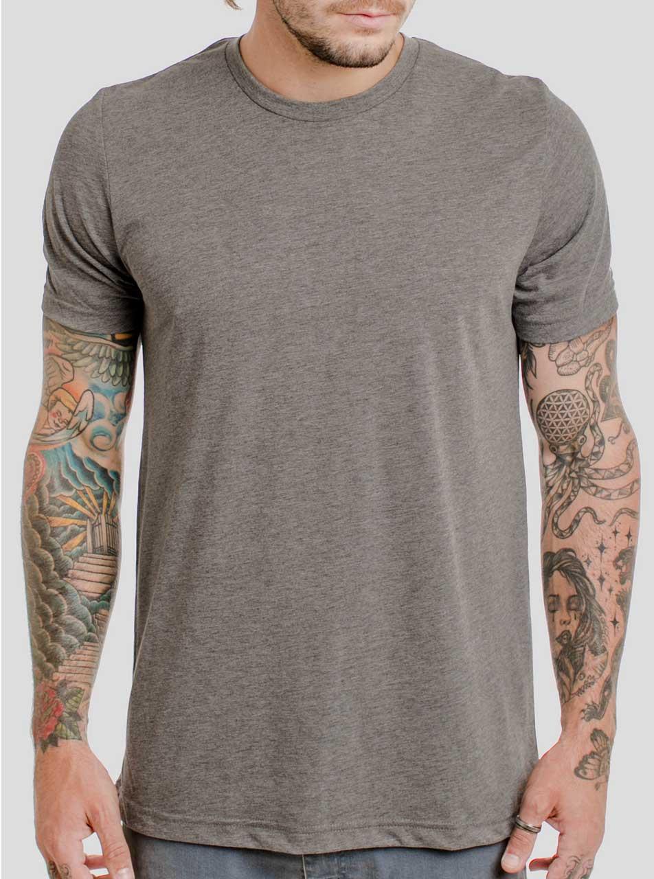 e4bafd65be8 Heather Grey T Shirt - Men's T-Shirts - FREE Shipping