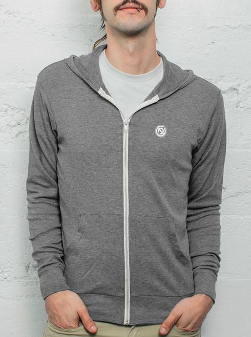 lightweight zip hoodie men