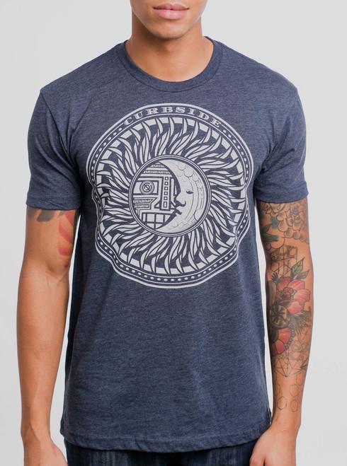 Eclipse - White on Heather Navy Men's T Shirt