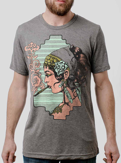 Femme Fatale - Multicolor on Heather Grey Triblend Mens T Shirt
