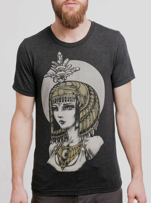 Empress - Multicolor on Heather Black Triblend Mens T Shirt