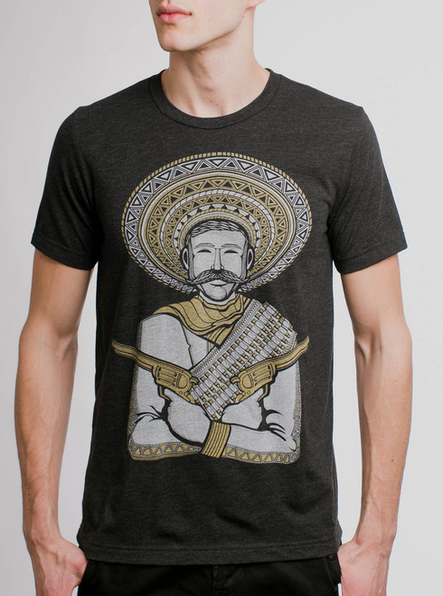 Peacemaker - Multicolor on Heather Black Triblend Mens T Shirt