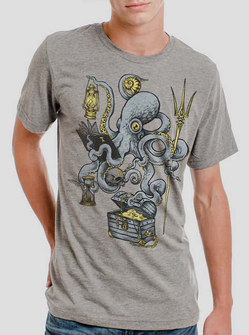 Evolution - Multicolor on Heather Grey Triblend Mens T Shirt