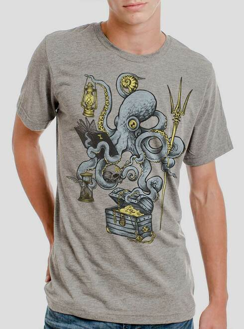 Evolution - Multicolor on Heather Grey Triblend Mens T Shirt